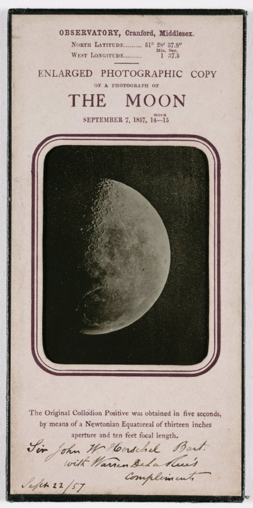 Stock Photo: 1895-31708 'Enlarged Photographic Copy of a Photograph of the Moon', 1857.