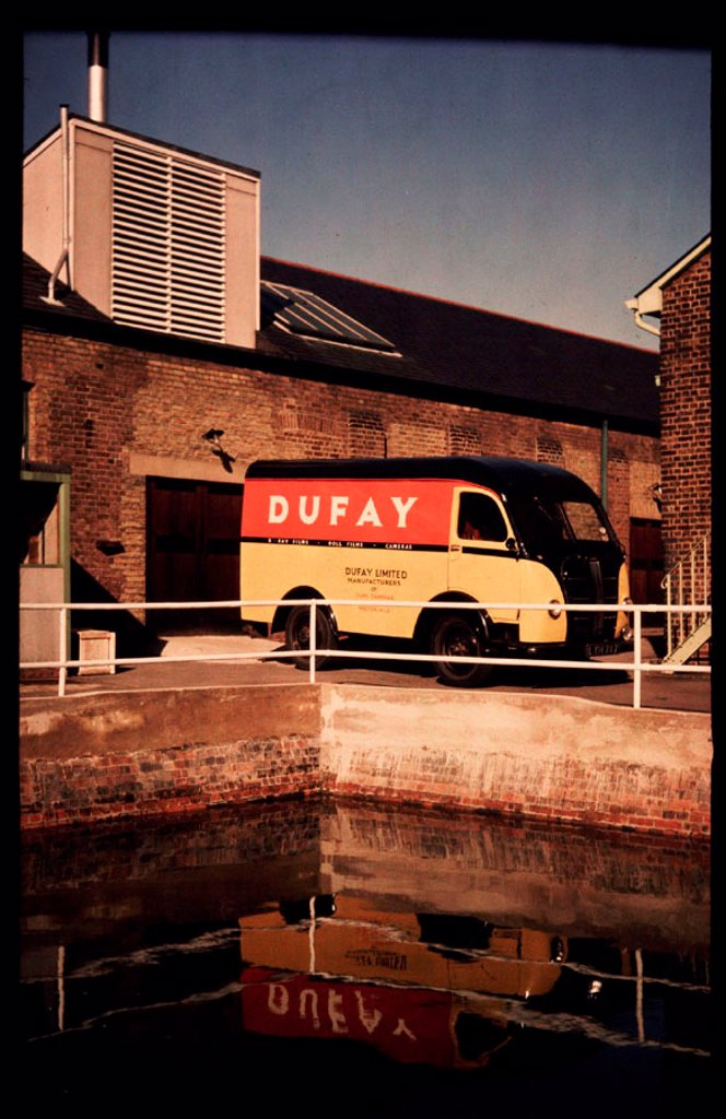 Dufay delivery van, c 1950. : Stock Photo