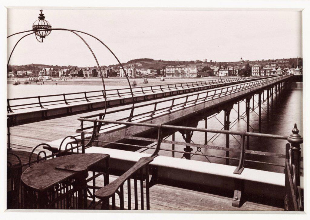'Paignton, The Pier and Esplanade', c 1880 : Stock Photo