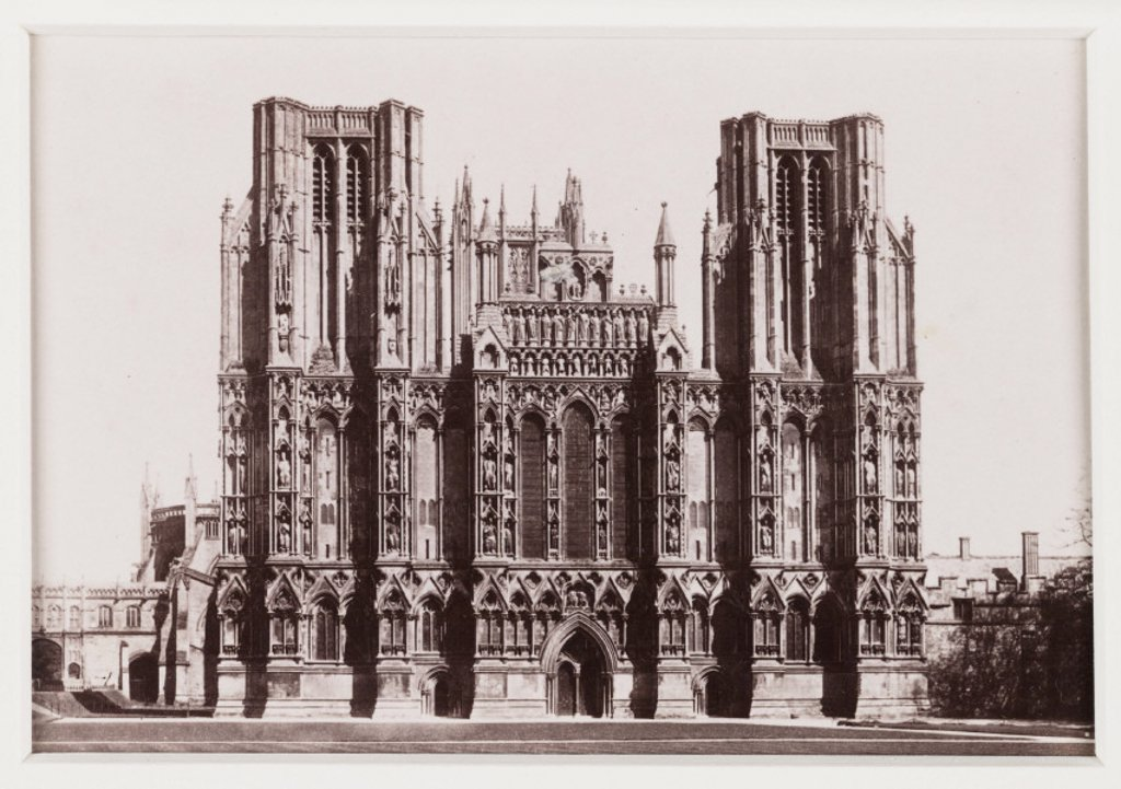 Stock Photo: 1895-31948 'Wells Cathedral, West Front', c 1880