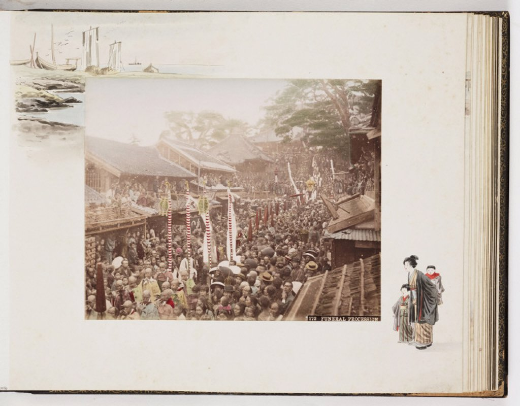 'Funeral Procession', c 1895 : Stock Photo
