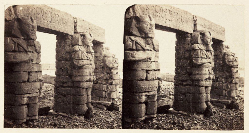 'The Temple At Gerf', 1859. : Stock Photo