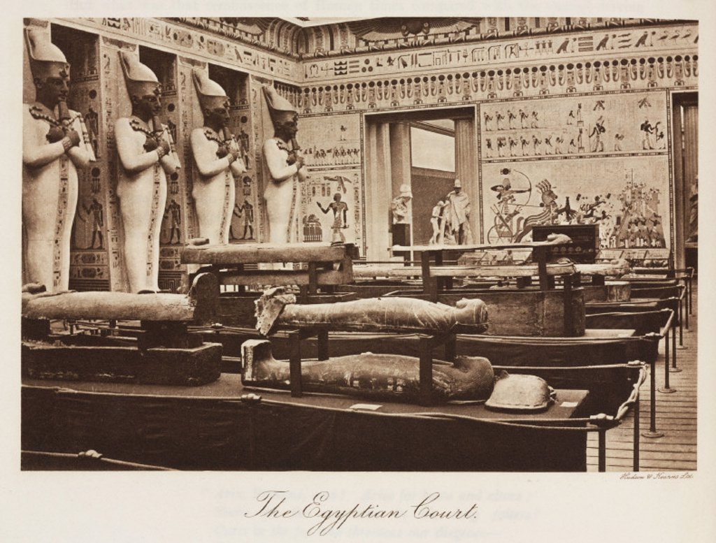 Egyptian Court, the Crystal Palace, Sydenham, London, 1911. : Stock Photo