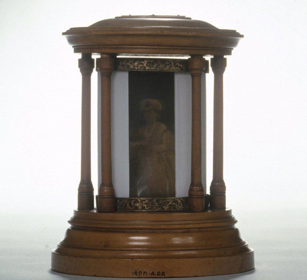 Swan casket portrait, c 1862. : Stock Photo
