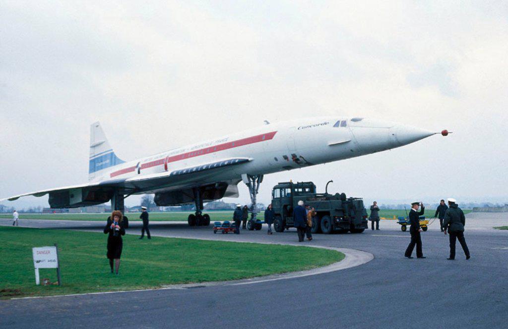 Stock Photo: 1895-32890 The Concorde, 002 prototype.