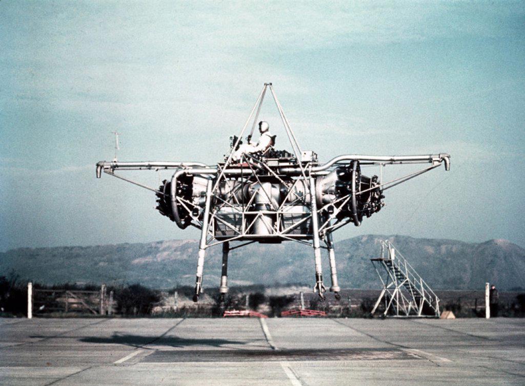 Rolls-Royce Thrust Measuring Rig (TMR) XK426 at Hucknall, c 1955. : Stock Photo