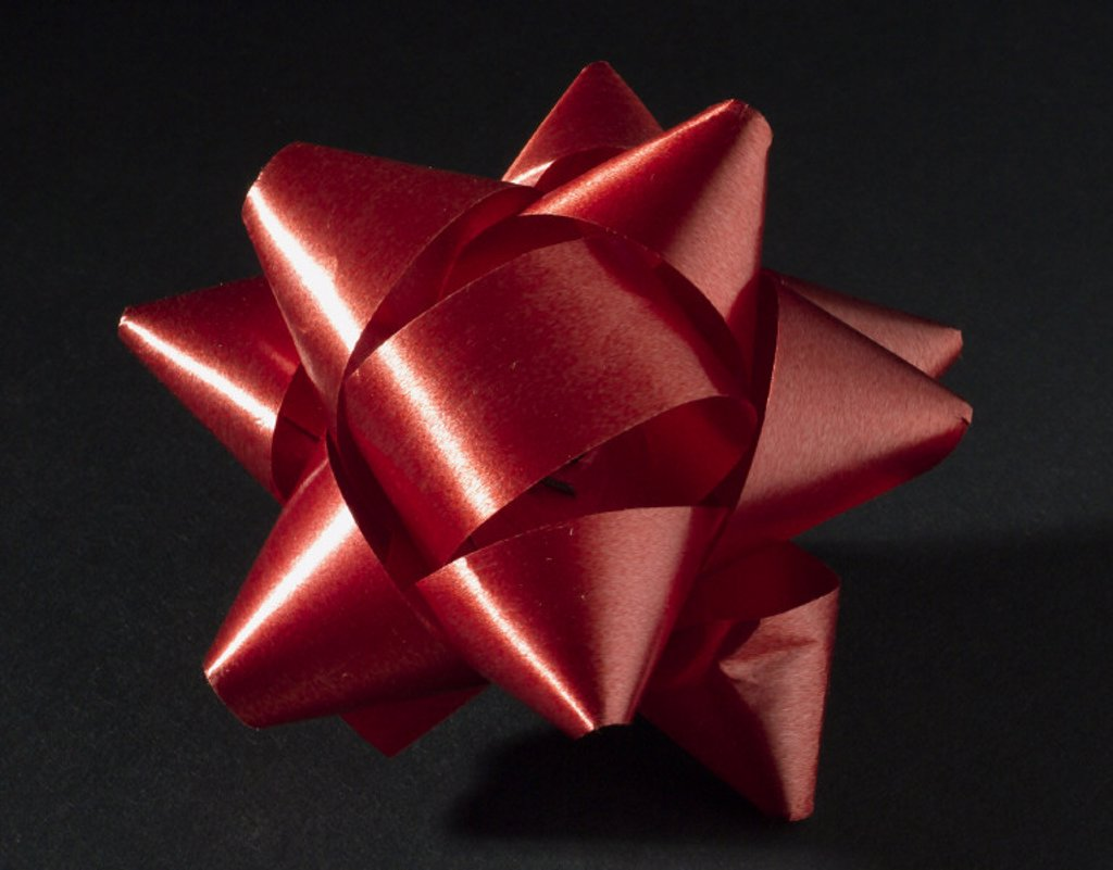 Red decorative bow, 1976. : Stock Photo