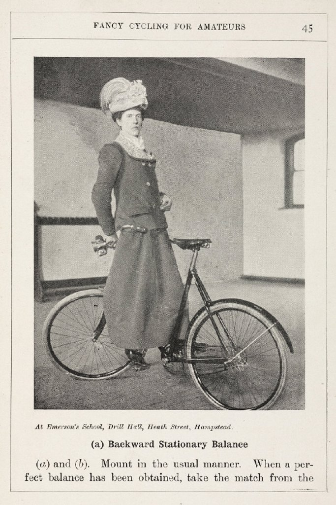 'Backward Stationary Balance', 1901. : Stock Photo