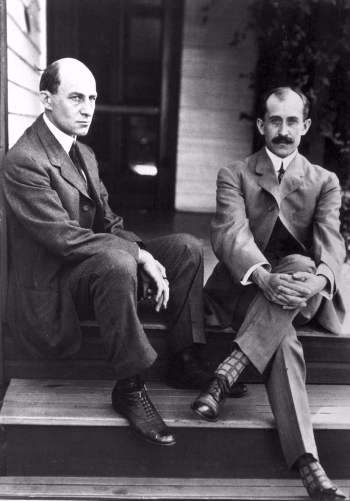 Stock Photo: 1895-33700 Wilbur (left) and Orville Wright, American aviation pioneers, c 1910.