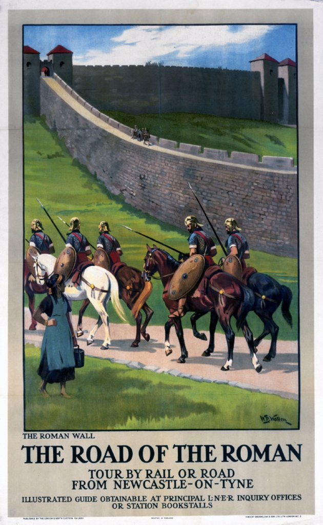 Stock Photo: 1895-3410 ´The Road of the Roman', LNER poster, 1923-1947.