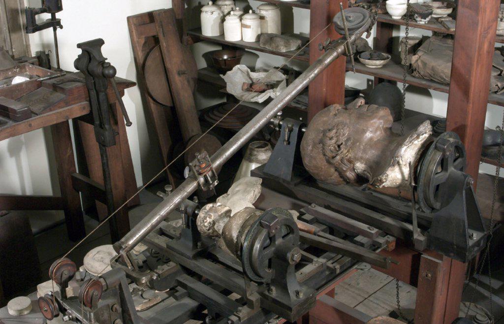 James Watt's workshop, 1790-1819. : Stock Photo