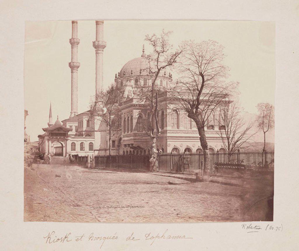 'Kiosk et Mosquee de Tophanna', c 1855. : Stock Photo