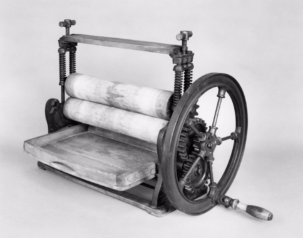 Table mangle, 19th-early 20th century. : Stock Photo