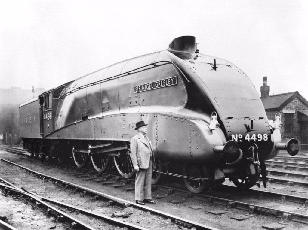 Locomotive number 4498, 1937 : Stock Photo