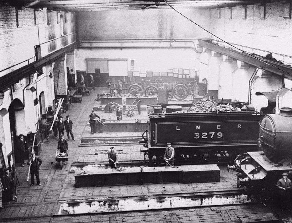 King's Cross locomotive depot, 1927 : Stock Photo