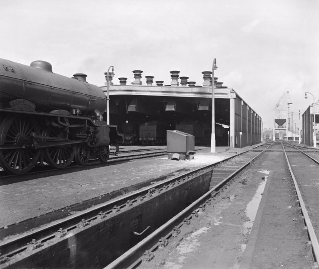 Ipswich motive power depot, 1958 : Stock Photo