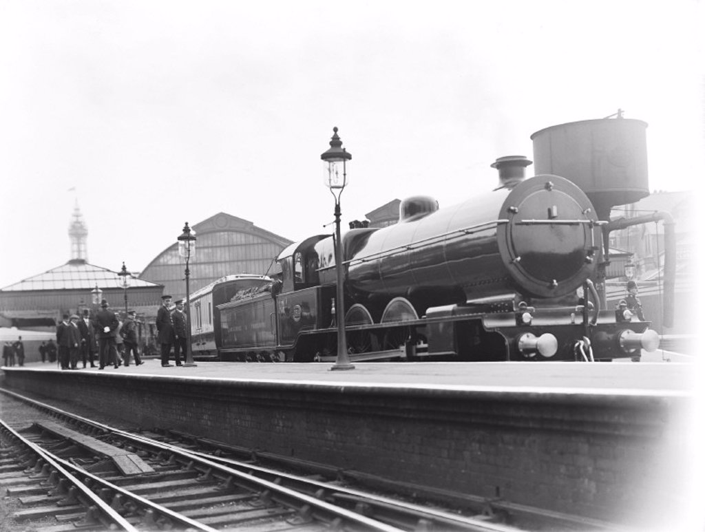 Royal Train at Blackpool station, 1913 : Stock Photo