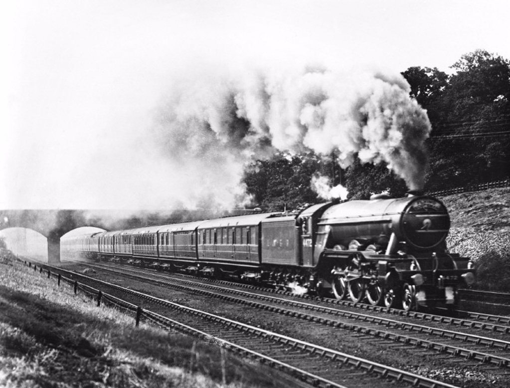 'Flying Scotsman', 1944. : Stock Photo