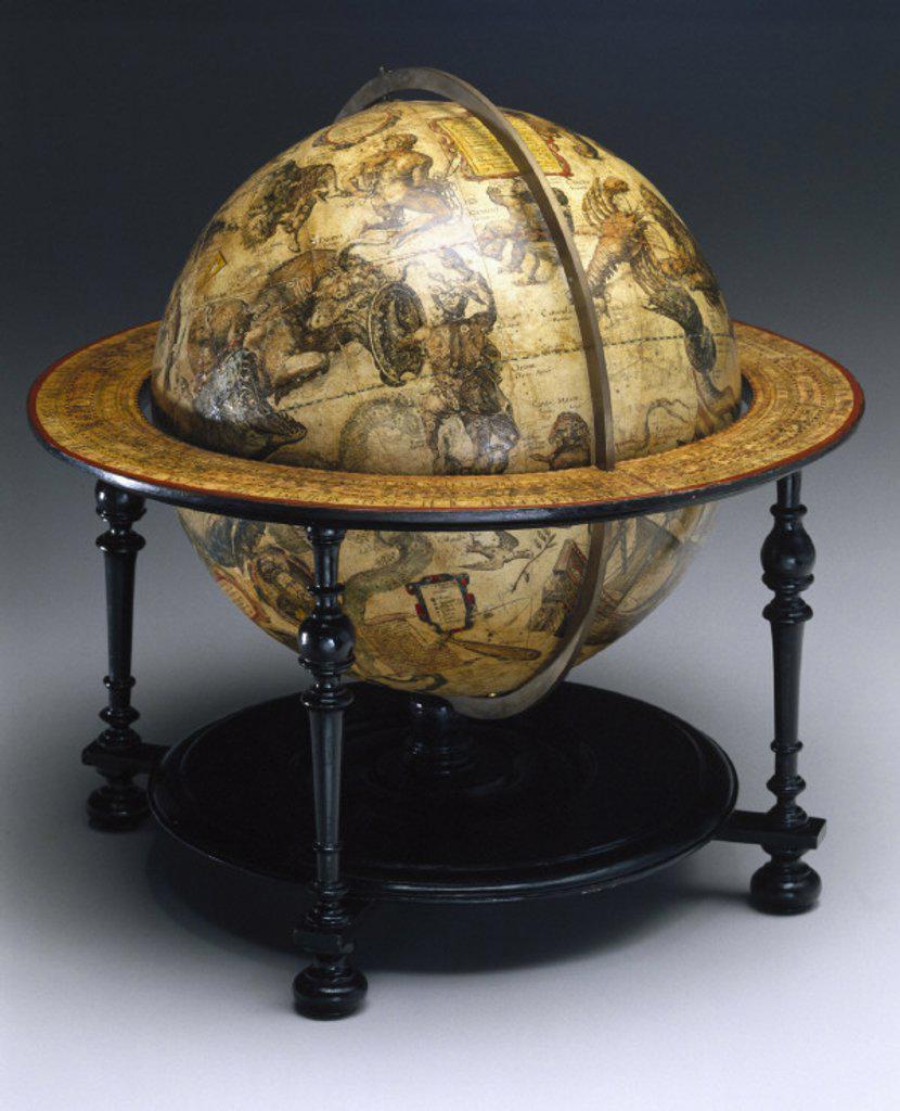 Stock Photo: 1895-3778 Celestial globe, Dutch, 1603.