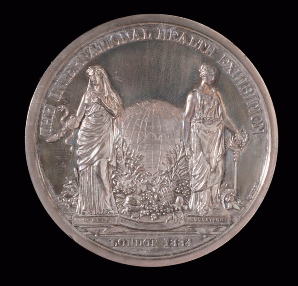 Stock Photo: 1895-38145 Medal commemorating the International Health Exhibition, 1884.