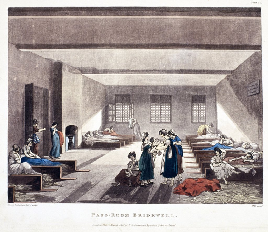 ´Pass-Room Bridewell´, 1808. : Stock Photo