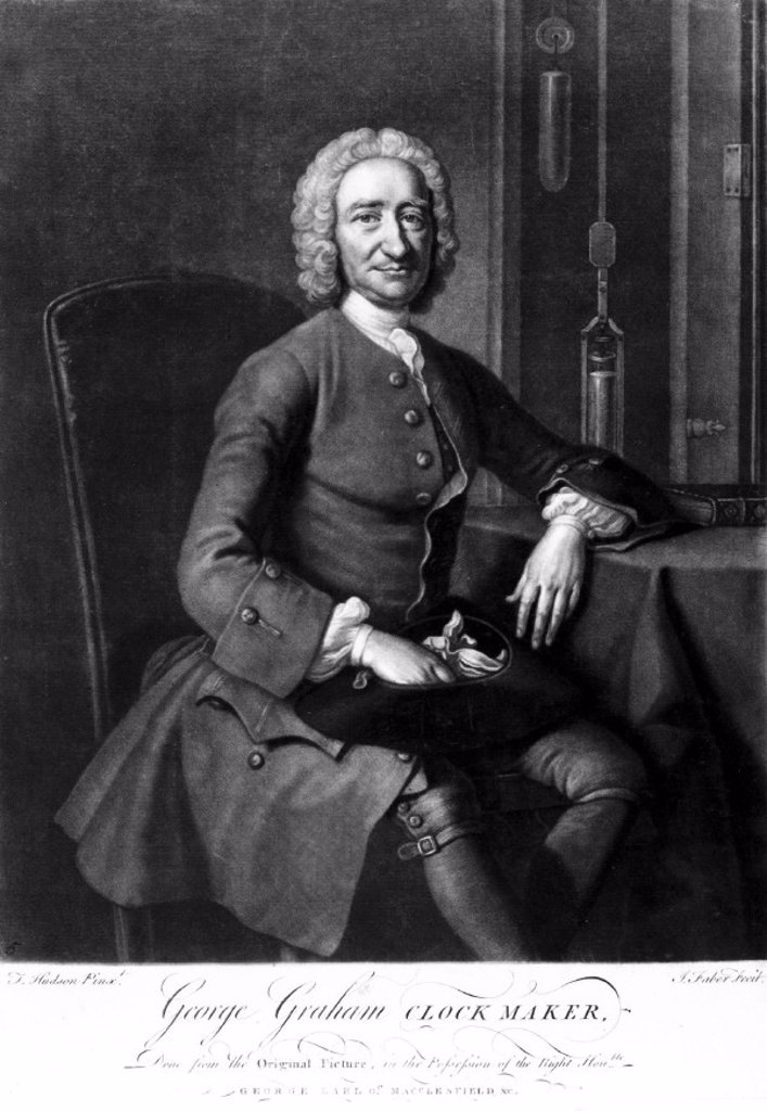 George Graham, clock and instrument maker, c 1740s. : Stock Photo