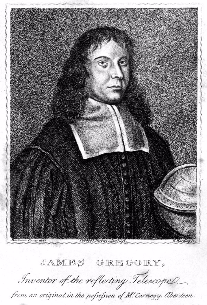 James Gregory, Scottish mathematician, c 1670. : Stock Photo