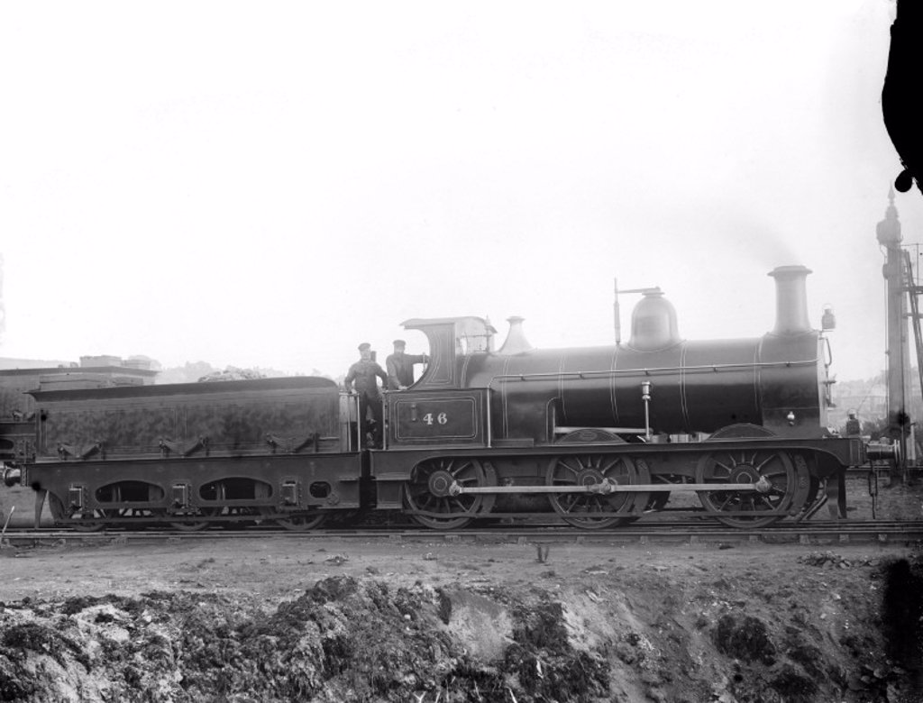 Locomotive number 46, c 1880 : Stock Photo