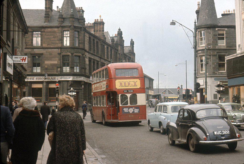 Traffic in Glasgow, 1962 : Stock Photo