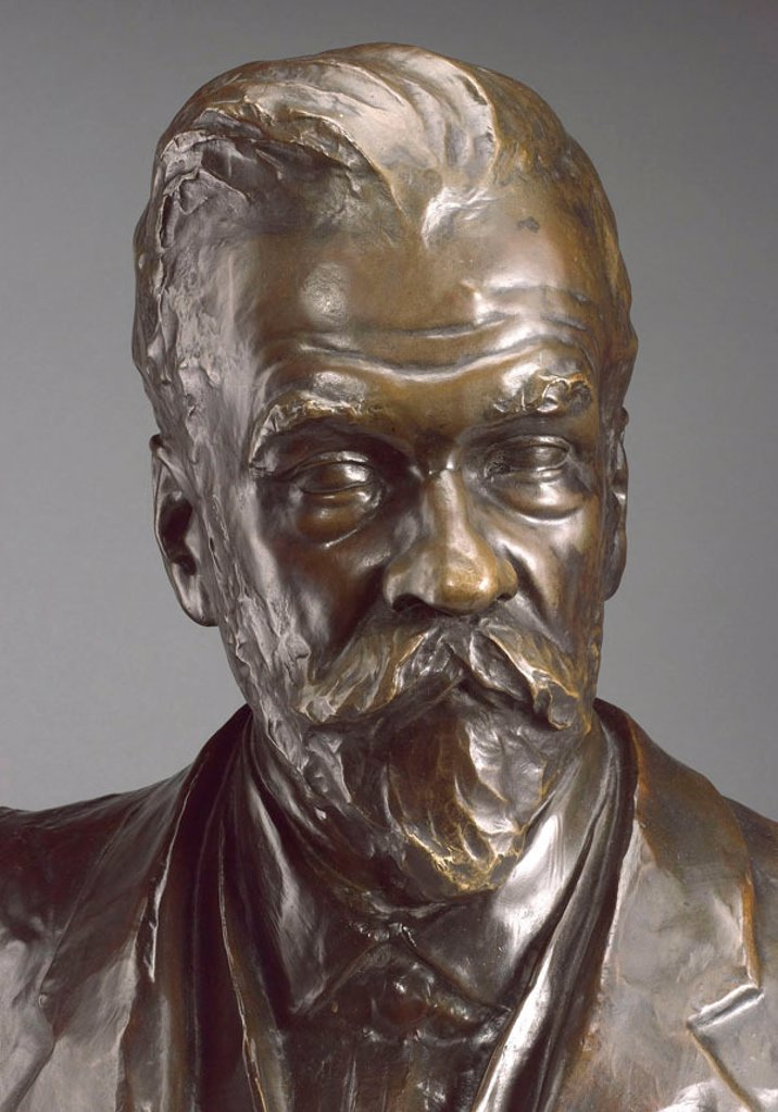 Stock Photo: 1895-40036 Bust of Ernest Solvay, Belgian industrial chemist, 1913.