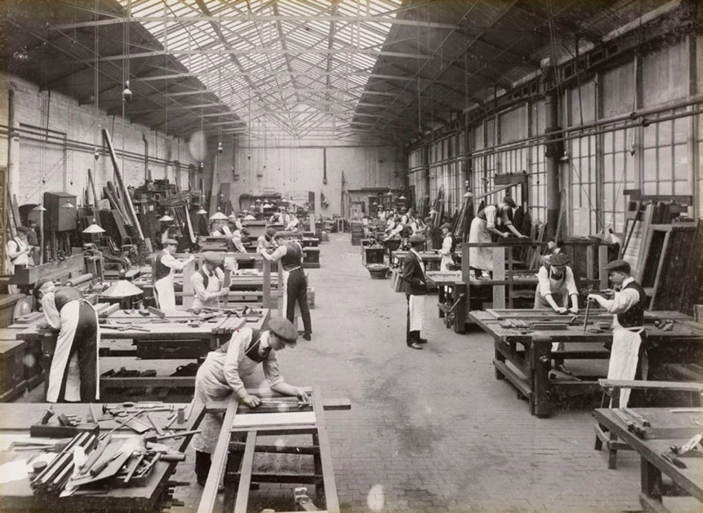Doncaster carriage works, South Yorkshire, c 1916. : Stock Photo