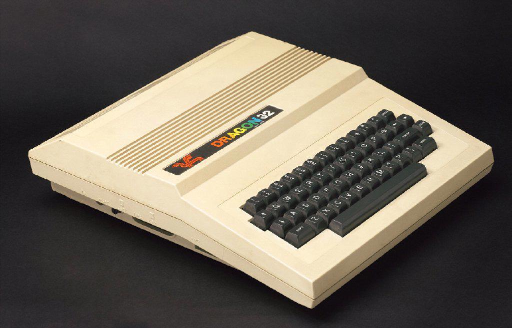 Stock Photo: 1895-40428 Dragon Data Ltd Family Computer, c 1982.