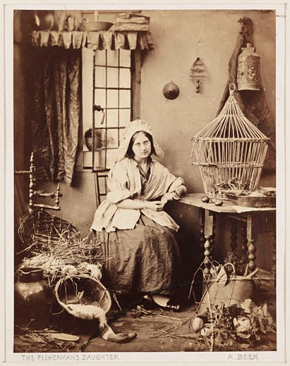 'The Fisherman's Daughter', c 1855. : Stock Photo