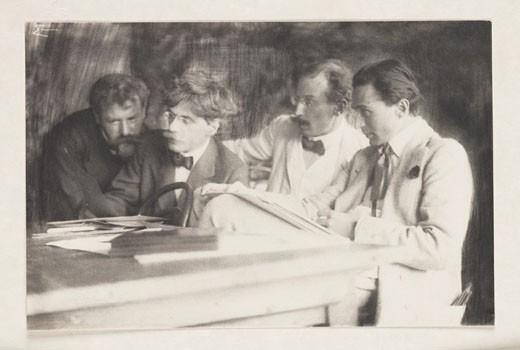 Frank Eugene, Alfred Stieglitz, Heinrich Kuhn and Edward Steichen, 1907. : Stock Photo