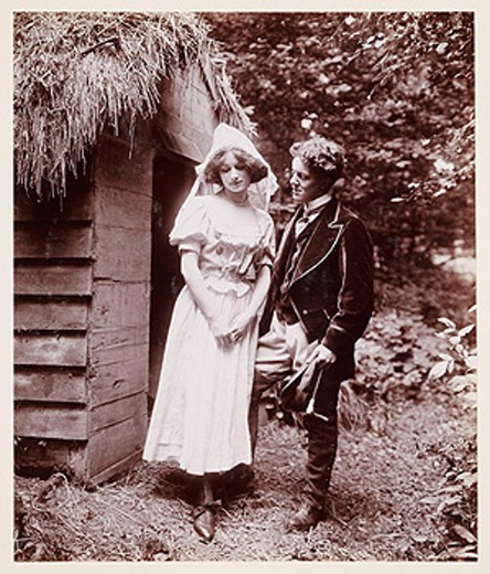 Edwardian portrait, couple in period costume. : Stock Photo