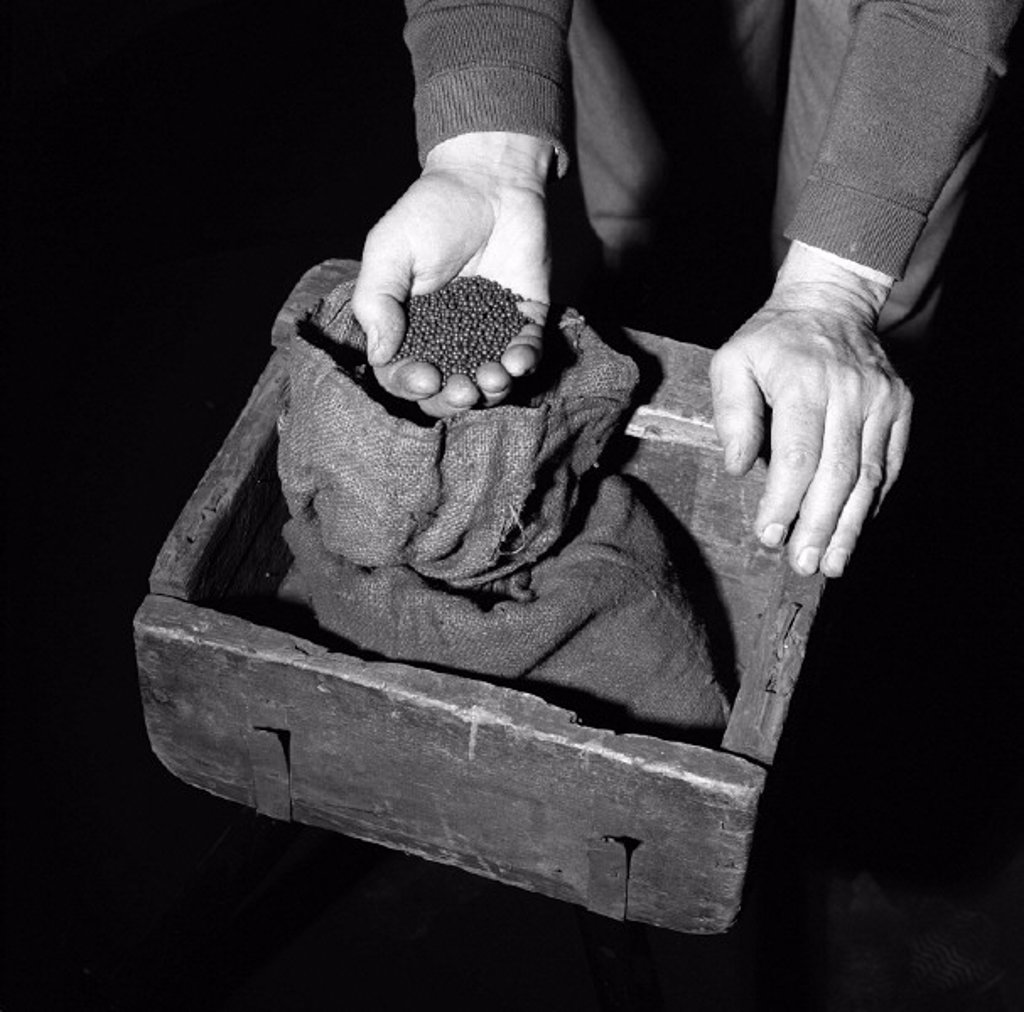 Stock Photo: 1895-41795 Lead shot and bullion box used in the Great Gold Robbery on 15th May 1855.