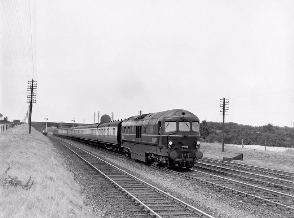 LMS steam turbine locomotive, No. 6202 after Harrow Station Accident 1952 : Stock Photo