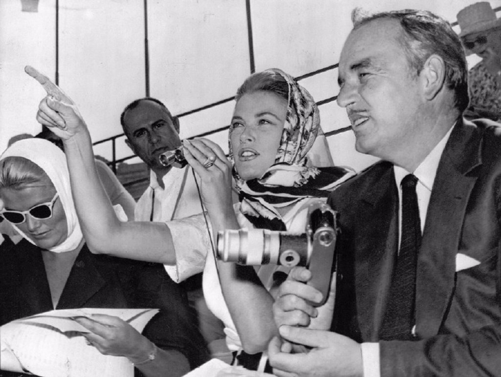 Stock Photo: 1895-42189 Princess Grace and Prince Rainier, Olympic Games, Rome, 1960.