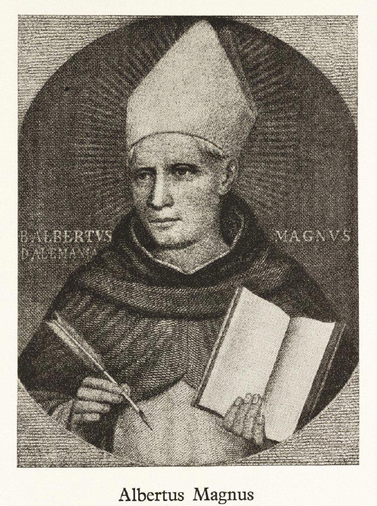 Albertus Magnus, German theologian and philosopher, 13th century. : Stock Photo