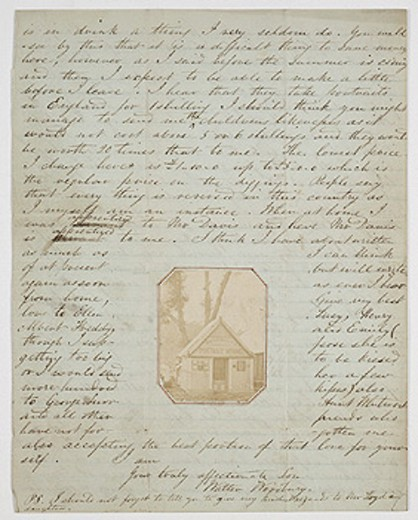 Stock Photo: 1895-42731 Letter from Walter Woodbury, c. 1851.