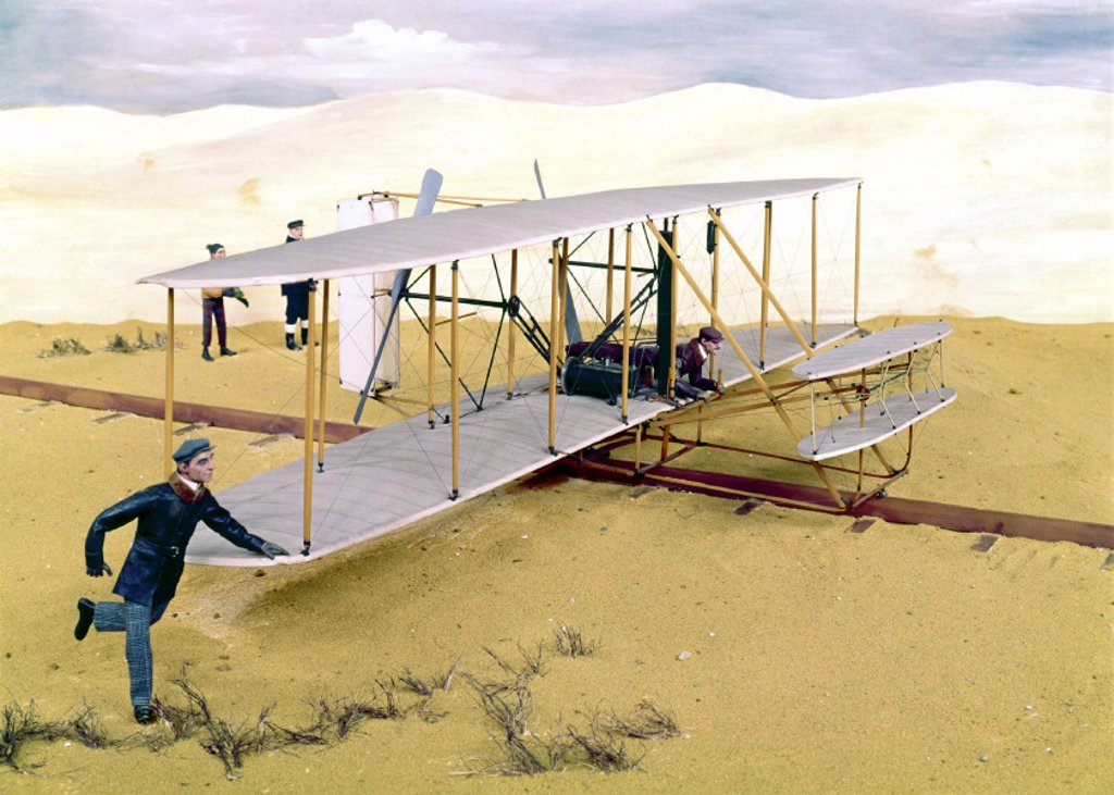 Stock Photo: 1895-4297 Wright Flyer, 1903.