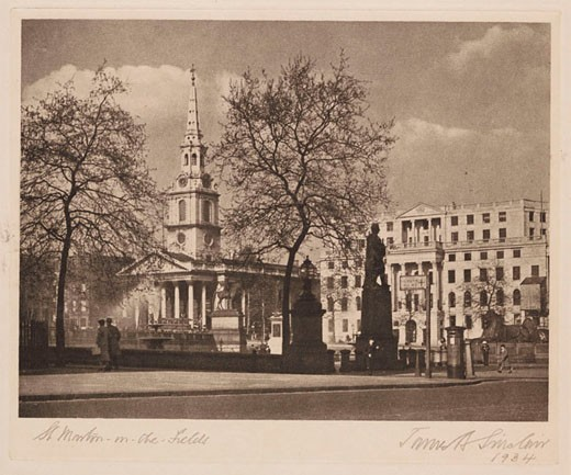 'St Martin-in-the-Fields', London, 1934. : Stock Photo