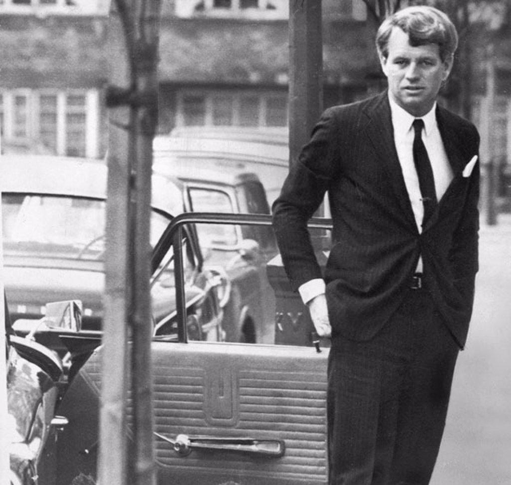 Stock Photo: 1895-43730 Robert Kennedy in London, January 1967.