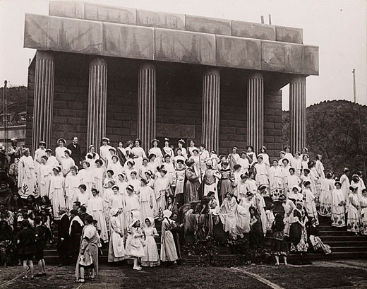 'A Scene at the Pageant Ground   ', early 20th century : Stock Photo