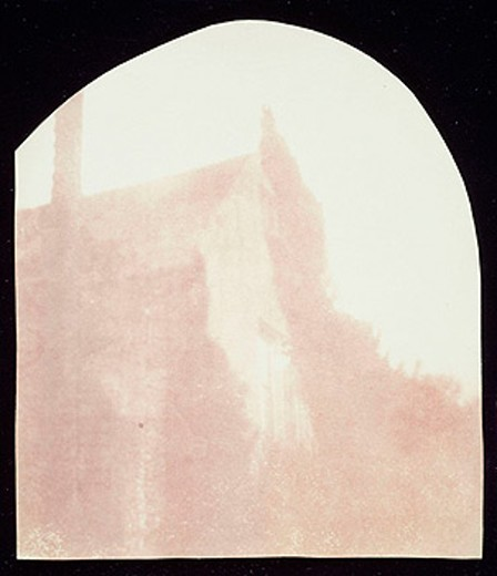 Stock Photo: 1895-44097 Roofline of Lacock Abbey, c 1839.