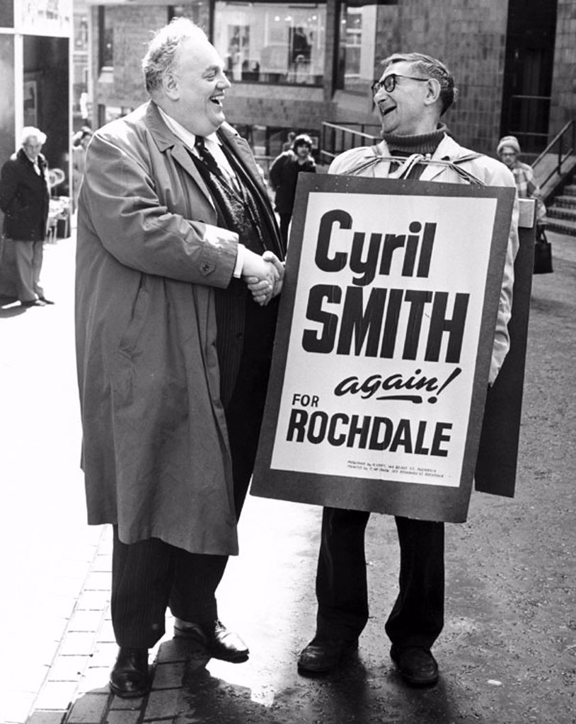 Stock Photo: 1895-44612 Cyril Smith, British politician, c 1980s.