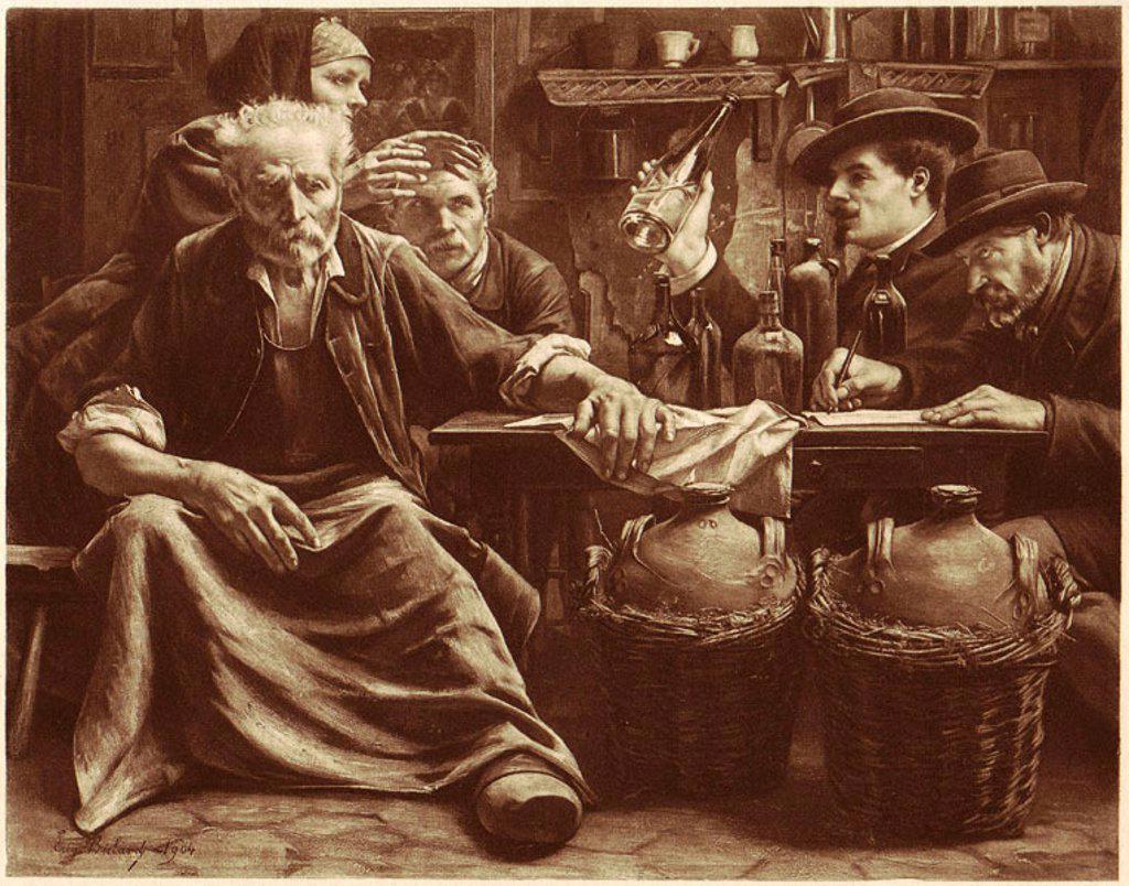 Stock Photo: 1895-44654 'L'Inquisition chez les bouilleurs de cru' 1904.