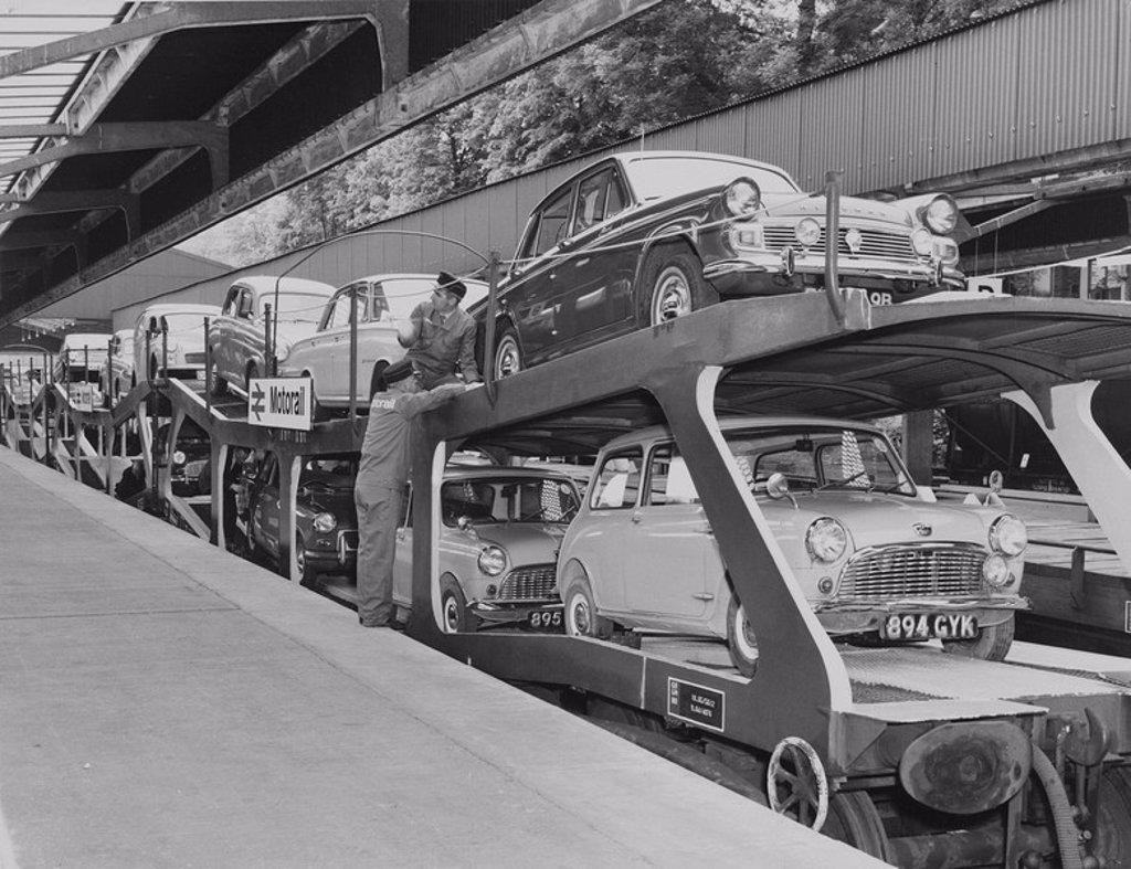 Motorail service, 24 May 1966 : Stock Photo