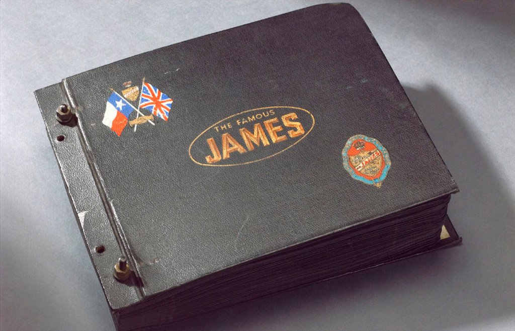 Photograph album of the James Cycle Co Ltd, 1940s. : Stock Photo