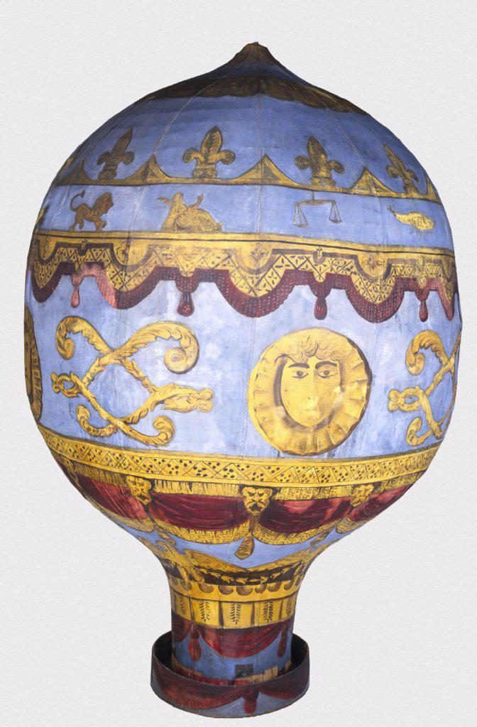 Model of Montgolfier balloon. : Stock Photo